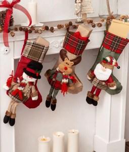 three christmas stockings characters
