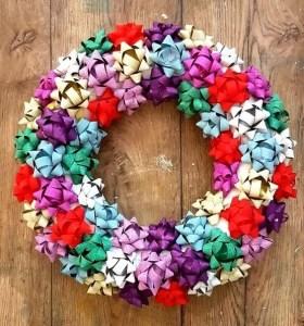 xmas gift bow decoration diy
