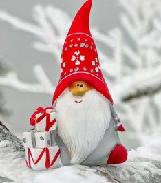 santa on a branch