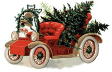 Vintage Car - Christmas Clipart