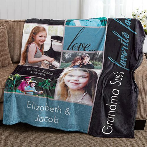 Custom Photo Blanket Christmas Gifts