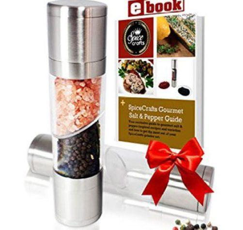SpiceCrafts Dual Salt & Pepper Grinder Set