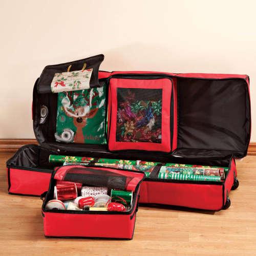 Christmas Gifts Contest Gift Wrap Storage Bag Organizer
