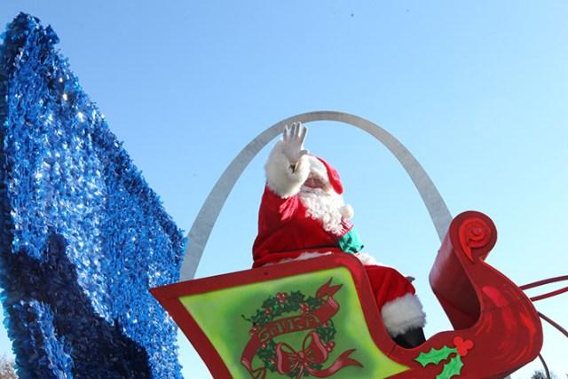 Santa Claus at the 2013 Ameren Missouri Thanksgiving Day Parade.