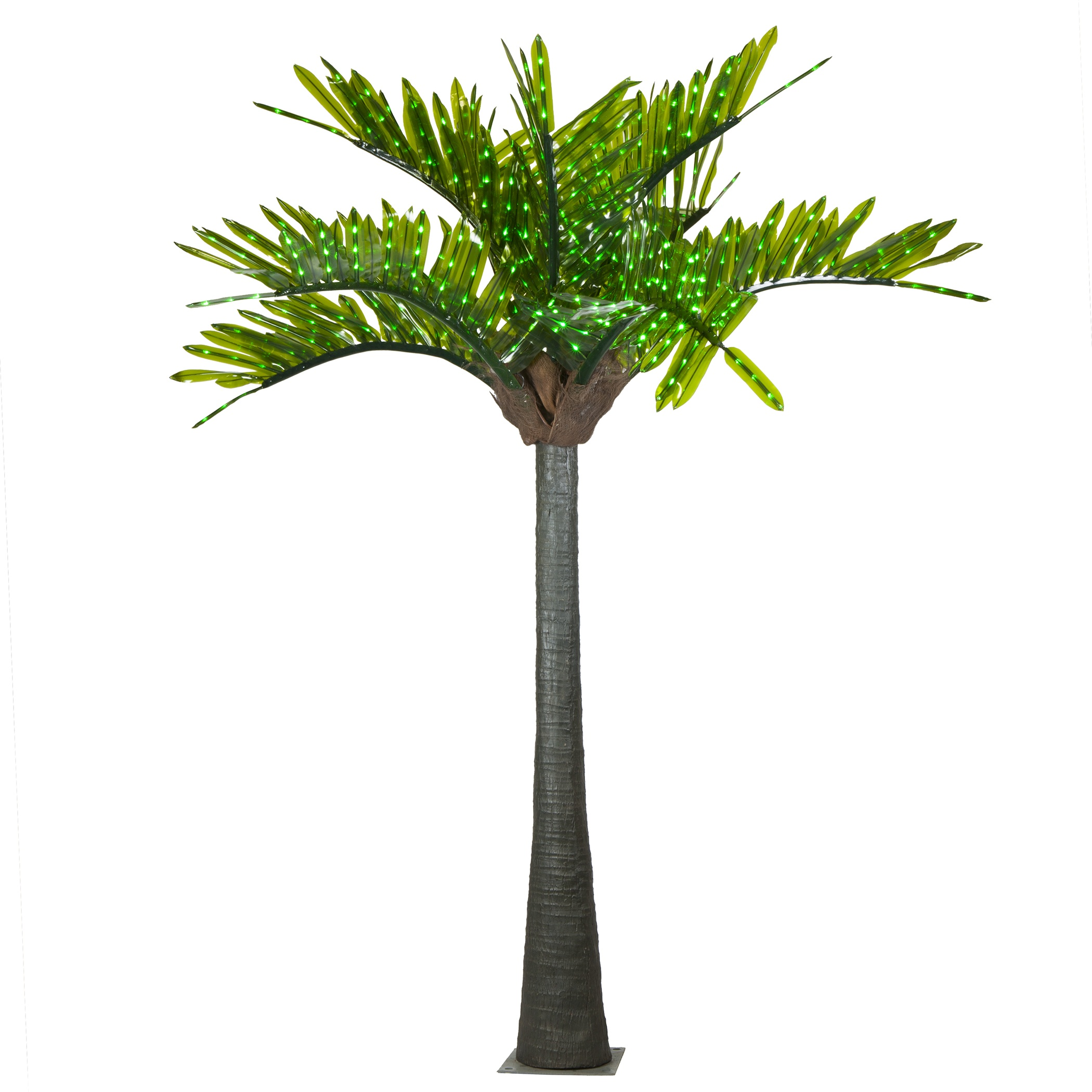 Outdoor Lighted Palm Tree