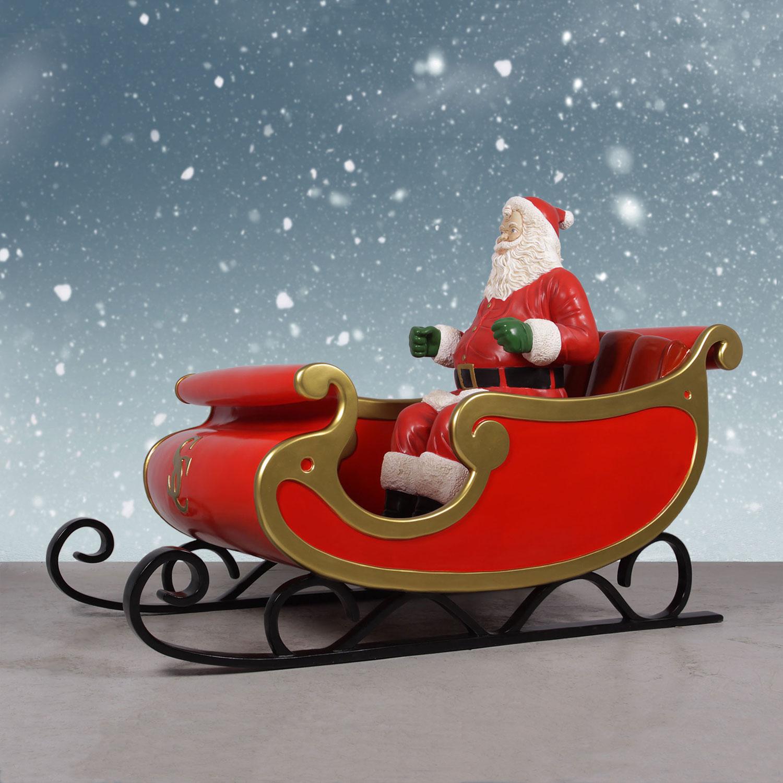 Nordic Reindeer With Santa Sleigh