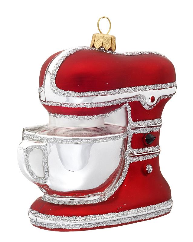 Stand Mixer Christmas Ornament Polish Glass