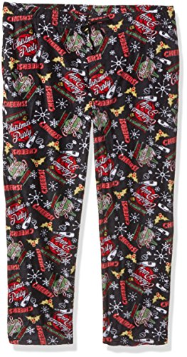 fruit of the loom mens holiday microfleece pajama pant