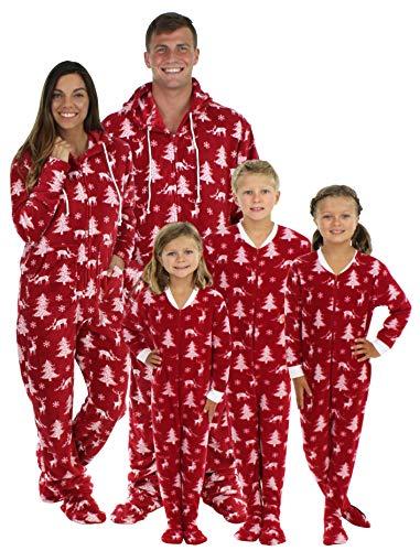 SleepytimePJs Matching Family Christmas Pajama Sets Deer Footed Onesies