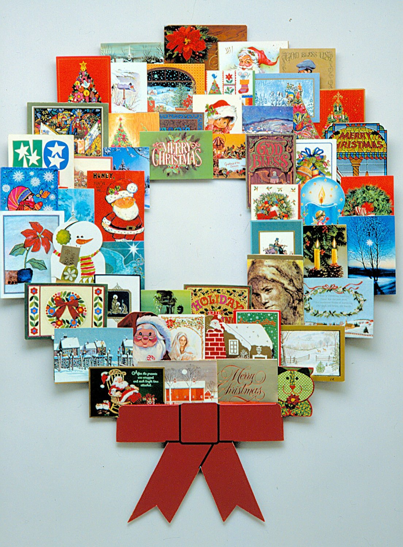 Christmas Card Wreath Holder Christmas Planning