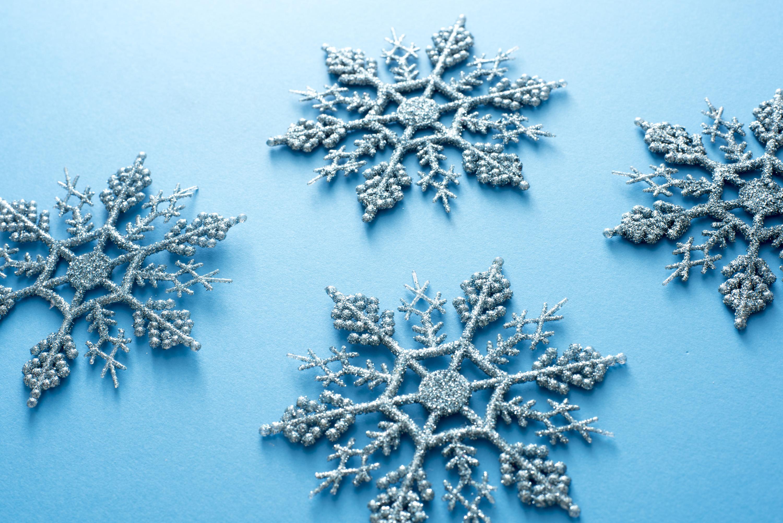 Photo Of Ornamental Blue Christmas Snowflakes Free
