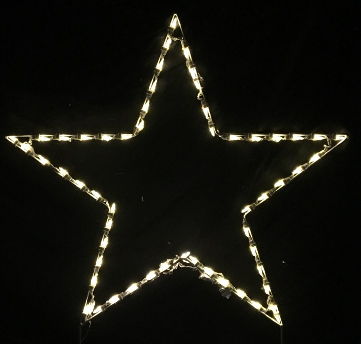 Outdoor Lighted Star Christmas Tree Topper