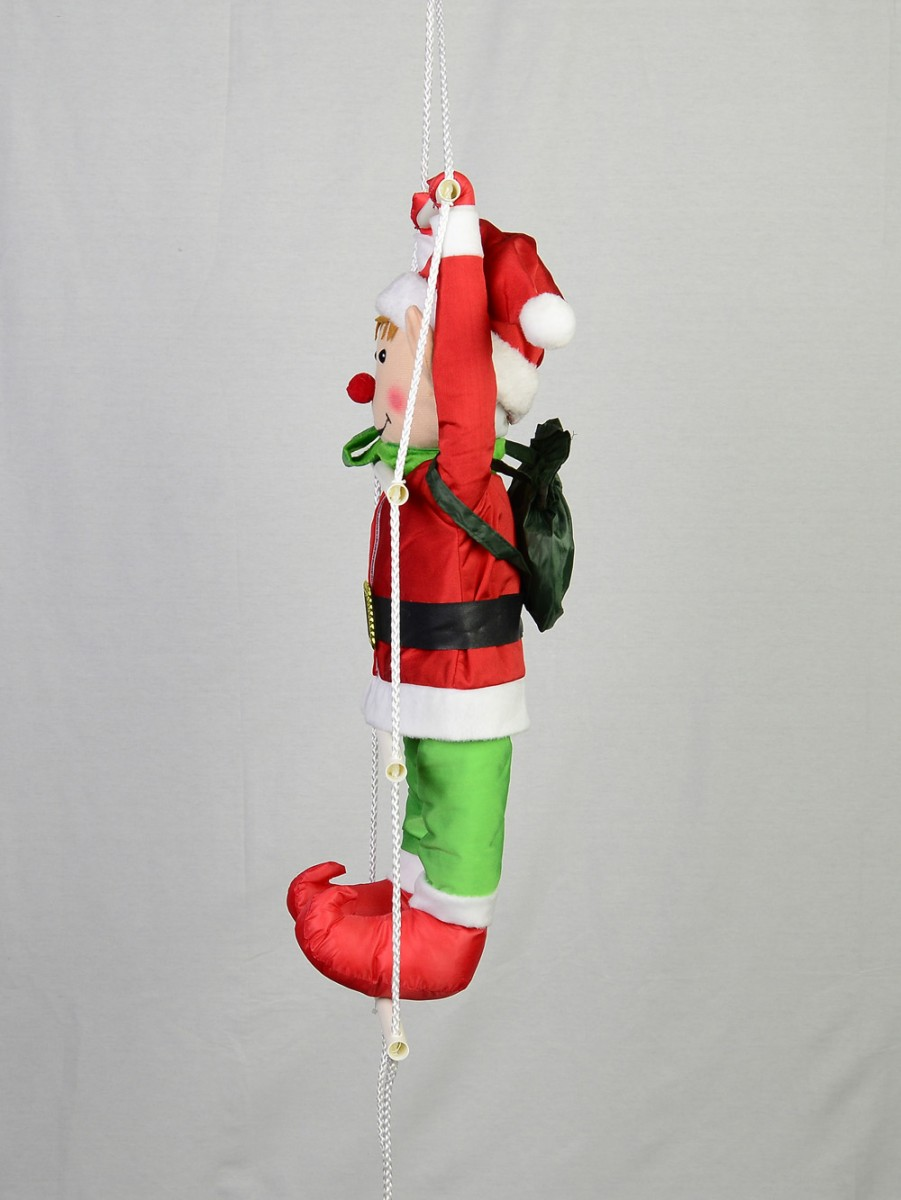 Padded Hanging Elf On A Ladder 60cm Large Decor Amp Inflatables Buy Online From The