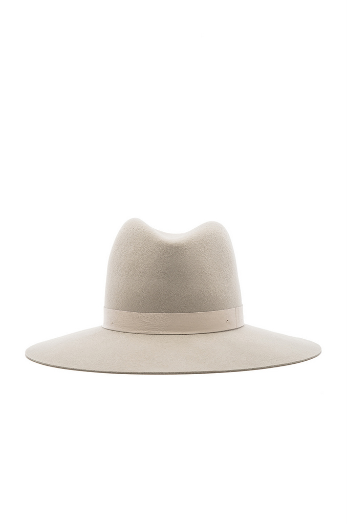 AVA WIDE BRIMMED FEDORA by JANESSA LEONE | $180