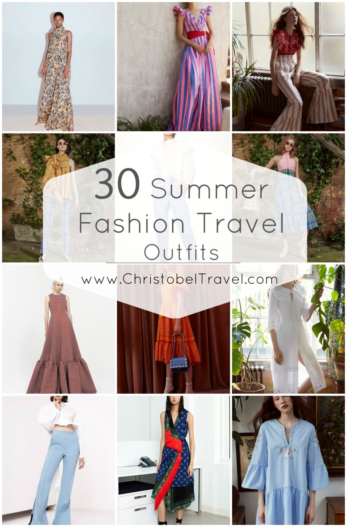 30 Summer Fashion Outfits to Inspire Your Travel Wardrobe - Christobel Travel