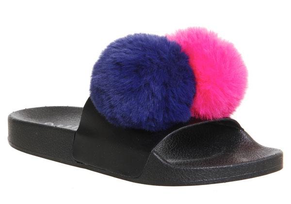 Office Snowball Pompom Slides - 15 Travel Sandals for Summer - Christobel Travel