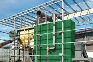 Biomass heating plants