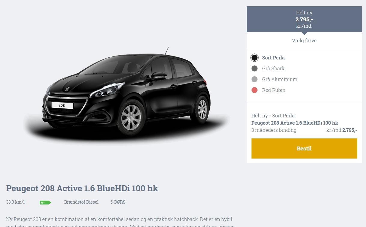 Peugeot på abonnement