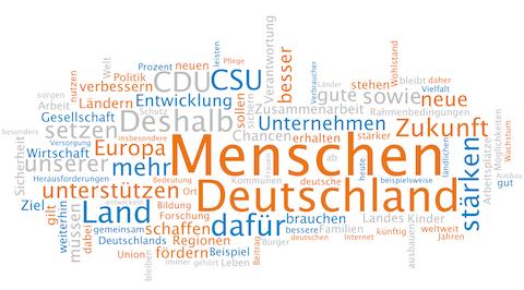 Wortwolke Wahlprogramm CDU CSU BTW 2013 klein
