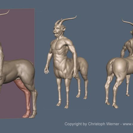 The template for this test. An old sculpting I made in my spare time.