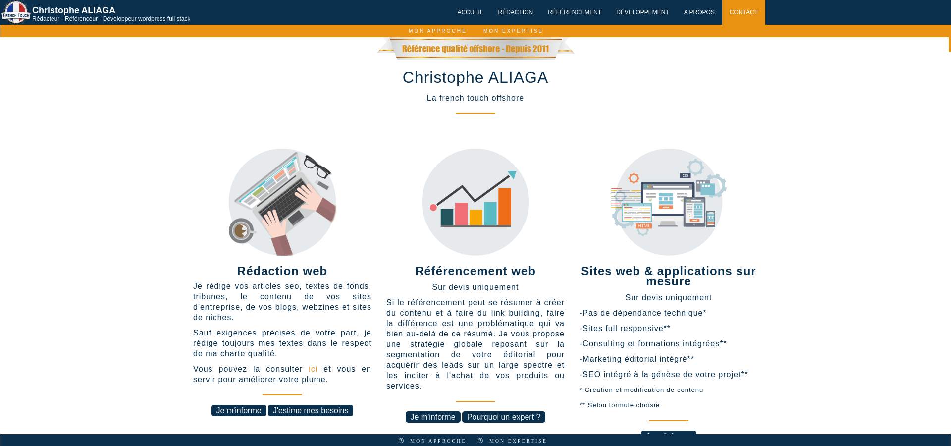 Site web Christophe ALIAGA