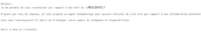 erreur flagrante dans email