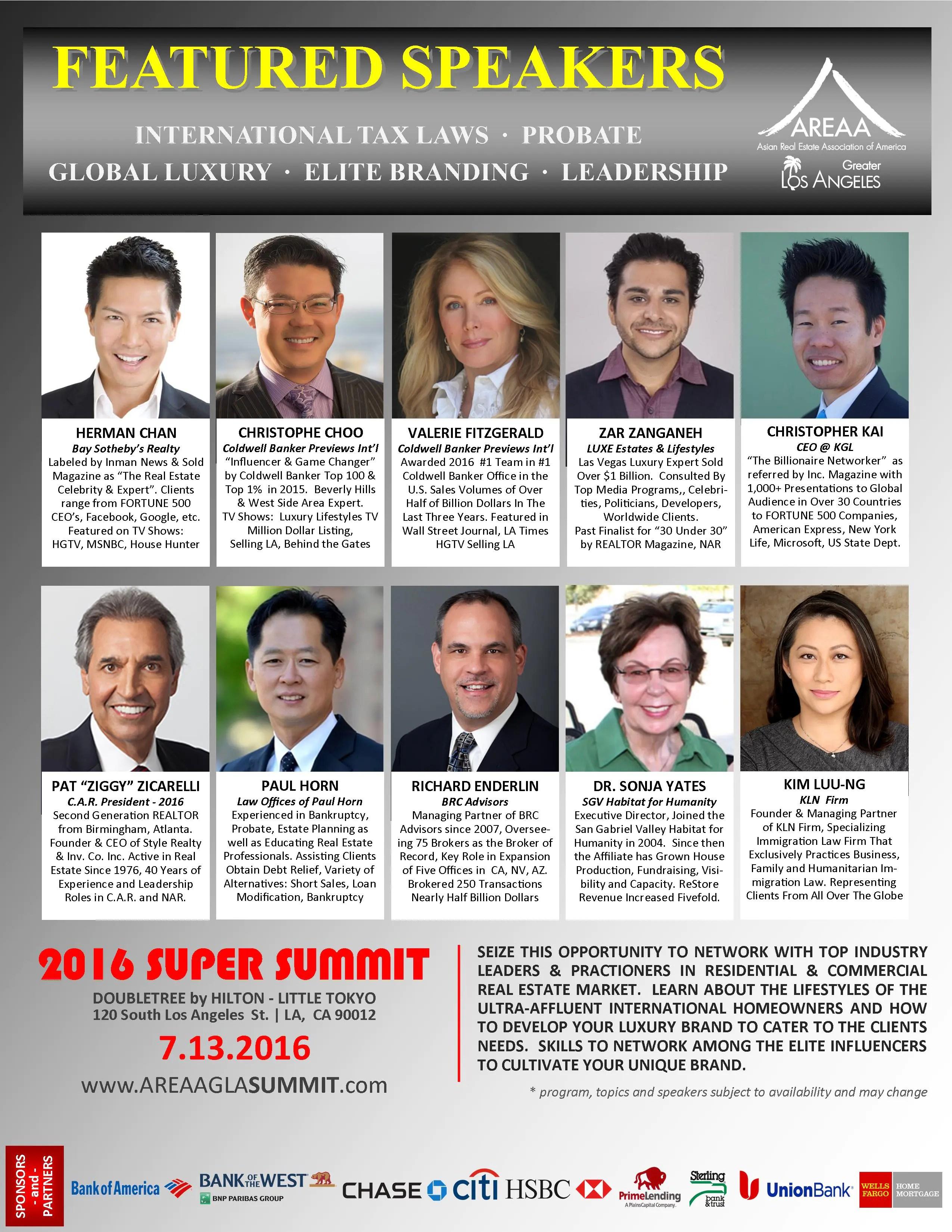 2016 Super Summit - SPEAKERS #2