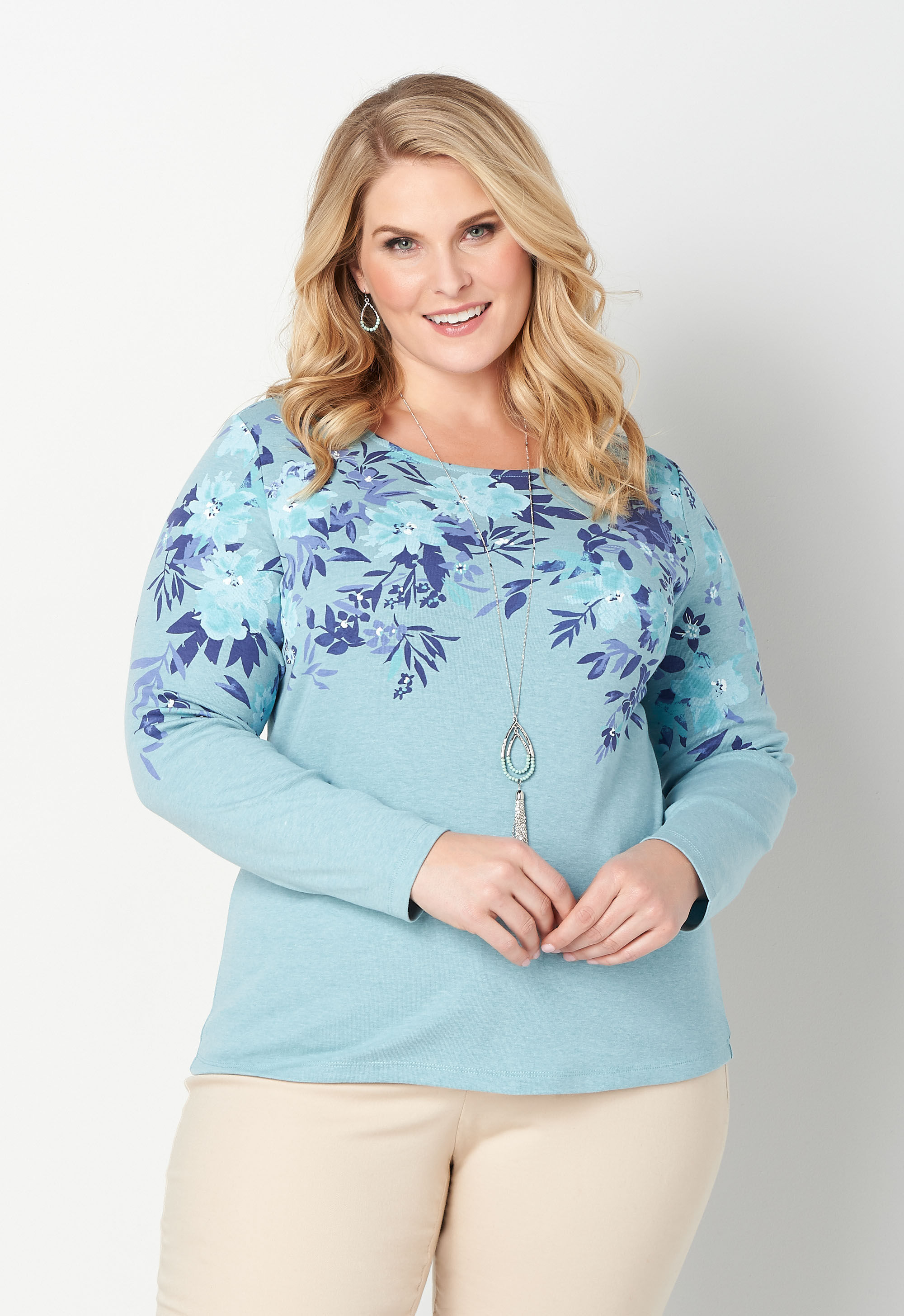 Falling Floral Heather Tee 9