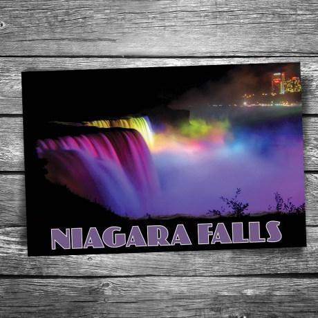 30-01-06-Niagara-Falls-Night Lights-Postcard