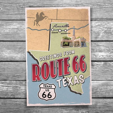 66-137-Route-66-Texas-Map-Postcard