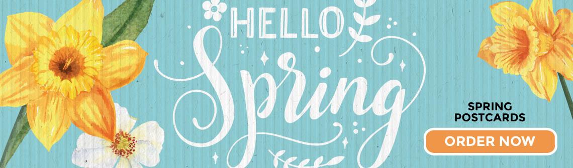 Happy Spring Postcards