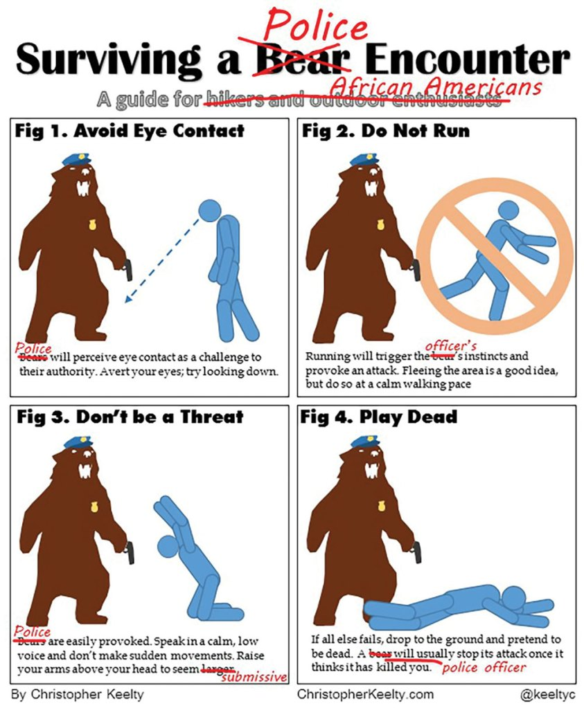 Surviving a Police Encounter | Cartoon by Christopher Keelty