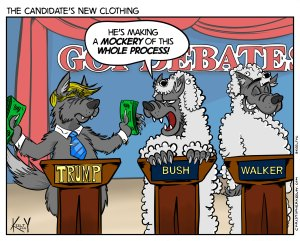 Candidate's New Clothing - Comic by Christopher Keelty