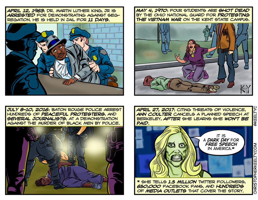 The Death of Free Speech - Comic by Christopher Keelty