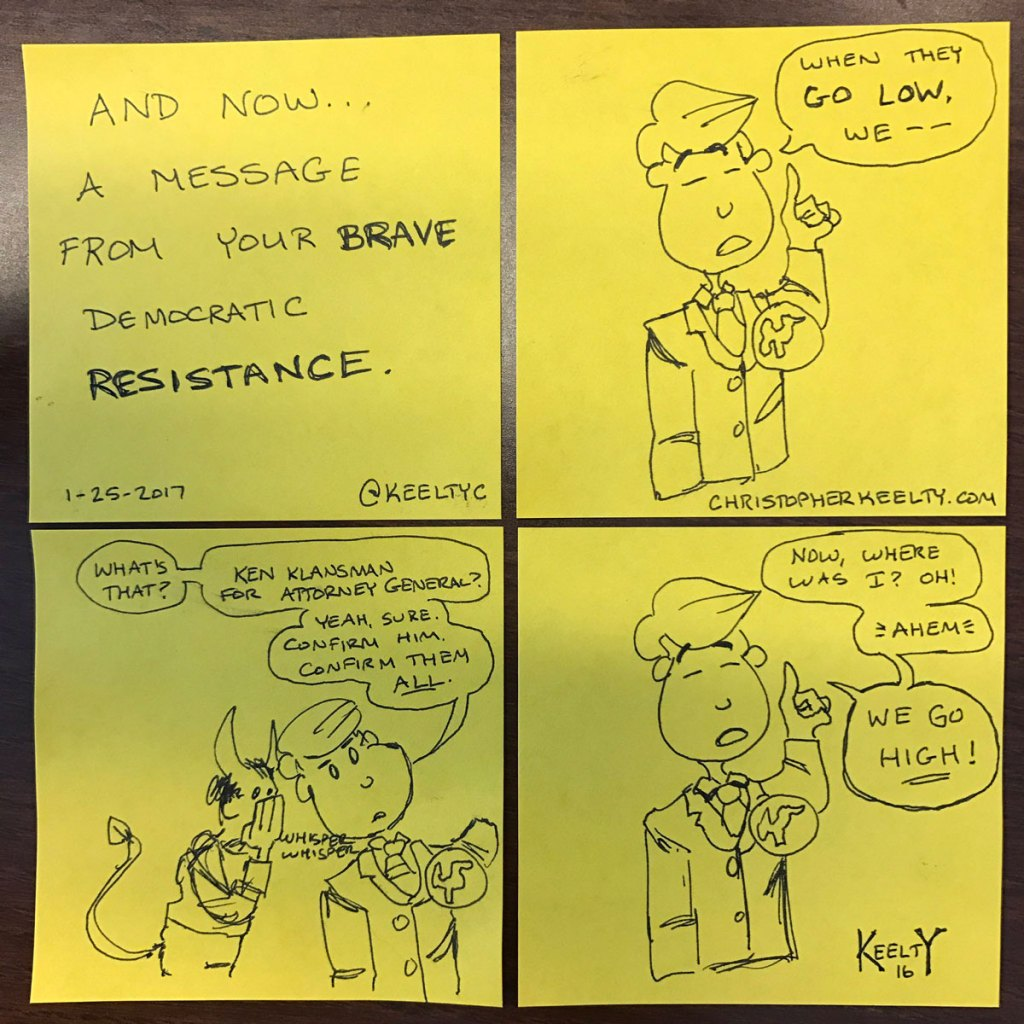 The Democratic Resistance - Comic by Christopher Keelty
