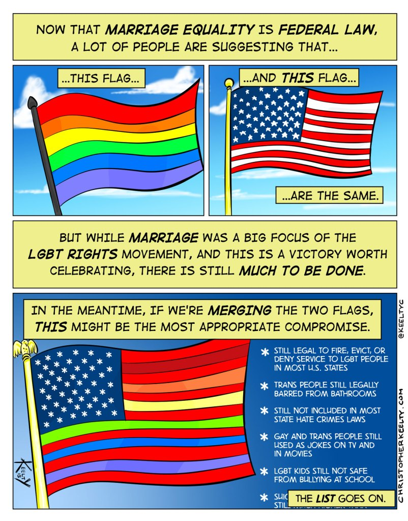 Rainbow Flags - Comic by Christopher Keelty