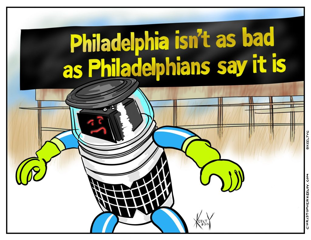 Hitchbot - Comic by Christopher Keelty