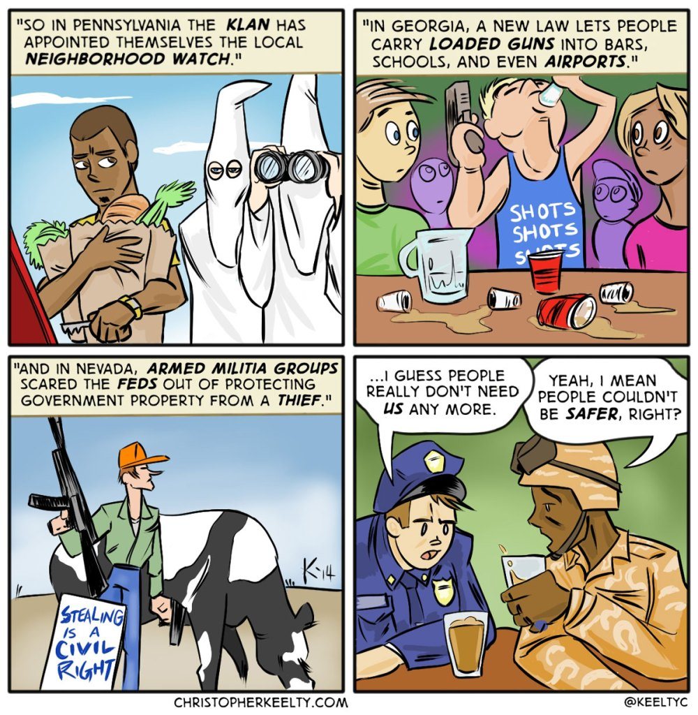 KKK on the Job - Comic by Christopher Keelty