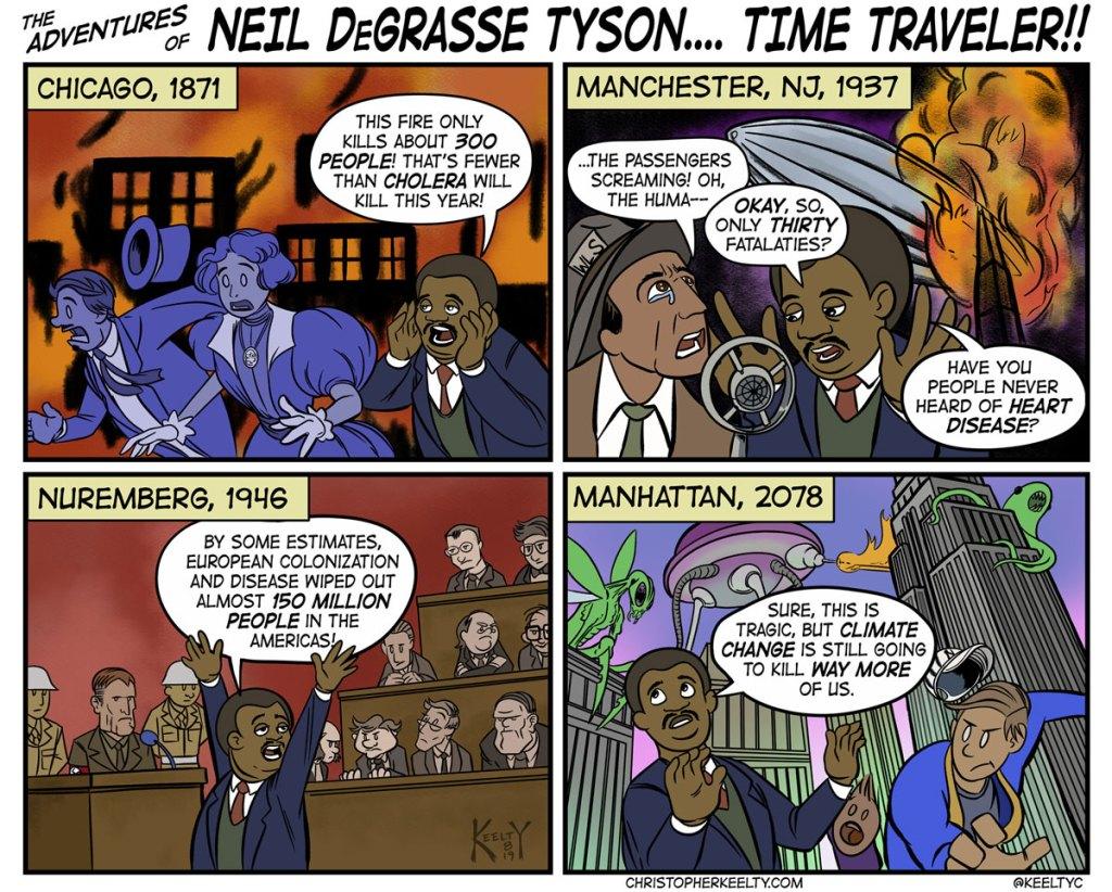 Neil DeGrasse Tyson, Time Traveler - Comic by Christopher Keelty