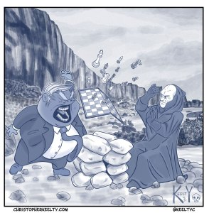 Seventh Seal Trump Cartoon by Christopher Keelty