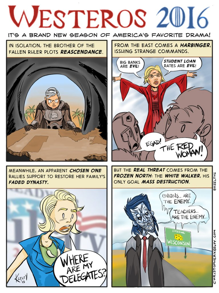 Westeros 2016 - Comic by Christopher Keelty