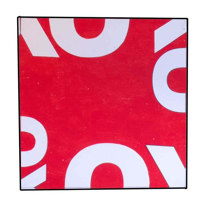 Base of mirror based contemporary artwork - OXO cube