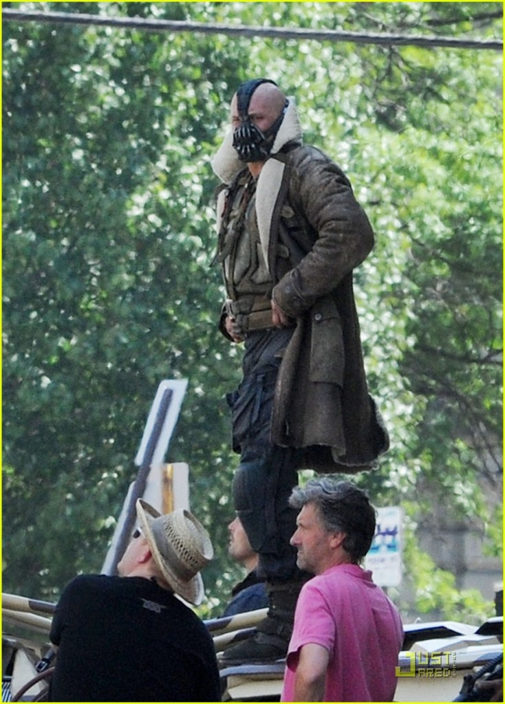 Bane (Tom Hardy) sur le tournage de The Dark Knight Rises à Pittsburgh