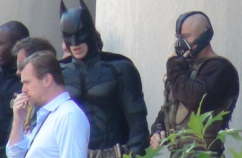 Christopher Nolan, Christian Bale et la doublure de Tom Hardy