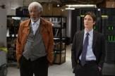 Joseph Tagger (Morgan Freeman) et Donald Buchanan (Cillian Murphy) dans Transcendence