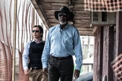 Donald Buchanan (Cillian Murphy) et Joseph Tagger (Morgan Freeman) dans Transcendence