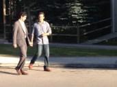 Elyes Gabel et Matthew McConaughey à Okotoks, sur le tournage d'Interstellar