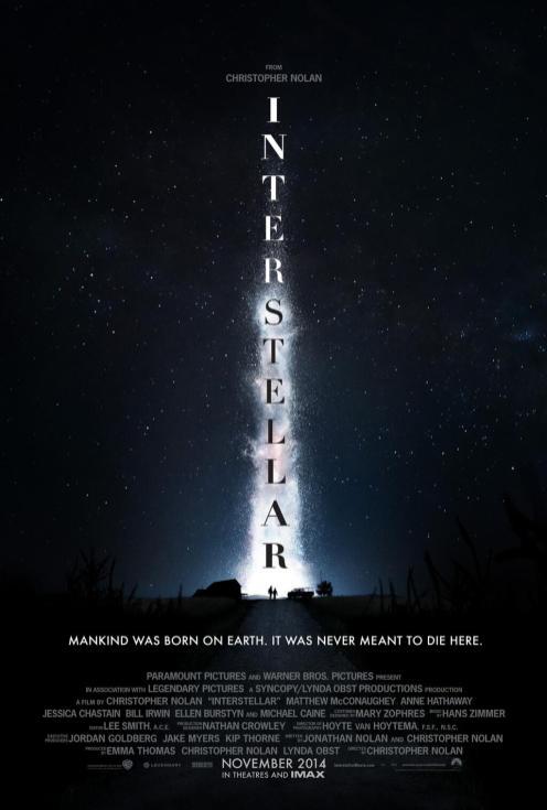Première affiche officielle d'Interstellar