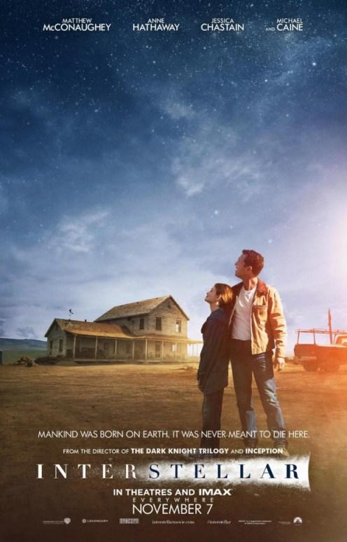 Troisième affiche officielle d'Interstellar publiée par le site Yahoo Movies