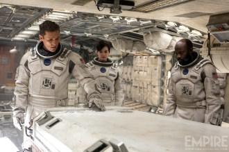 Matthew McConaughey, Anne Hathaway et David Oyelowo dans Interstellar